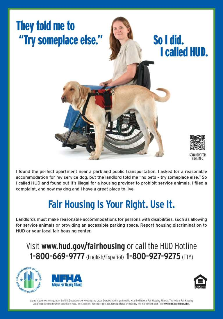 Fair Housing is your right, use it