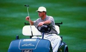 Casey Martin in his golf cart