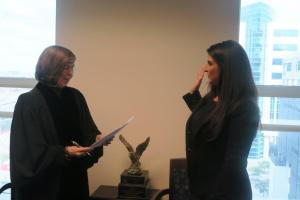Lisa Goodman and Judge Muir