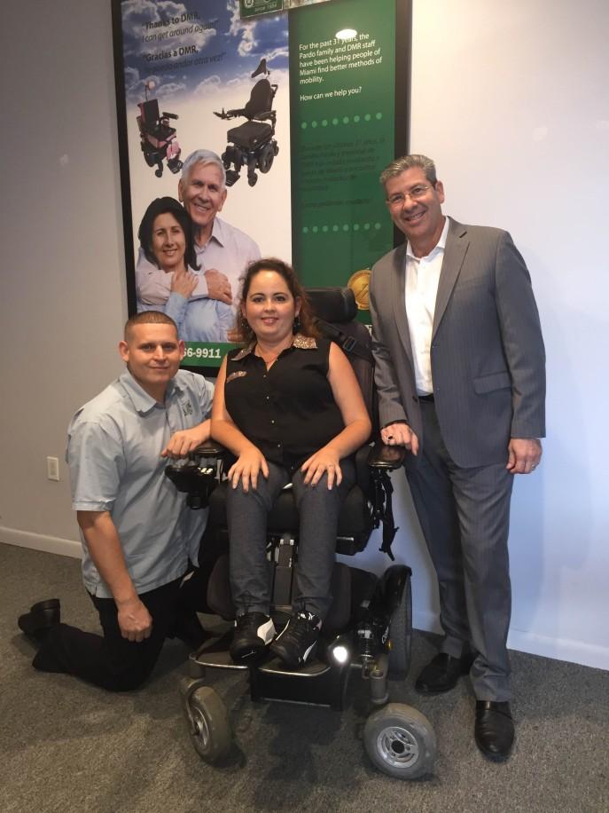 Left to Right Lazaro Muniz, Lorinda Gonzalez and Angel Pardo