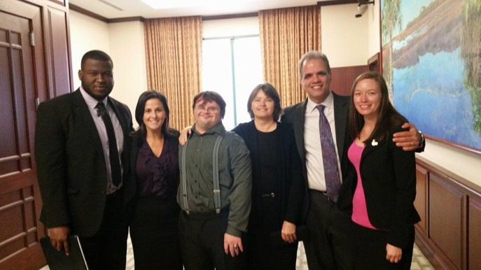 The team at the appeallate court - Sam Rony, Rachel Goldstein, Karl Hunt, Dyan Hunt, Matthew Dietz, and Jennifer Hunt